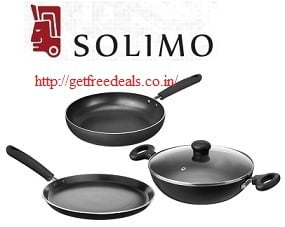 Solimo Non-Stick 3- Piece Kitchen Set (Induction & Gas compatible) worth Rs.2630 for Rs.1249 @ Amazon (Limited Period Deal)