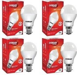 Eveready 9 Watt B22 LED Bulb (White, Pack of 5)