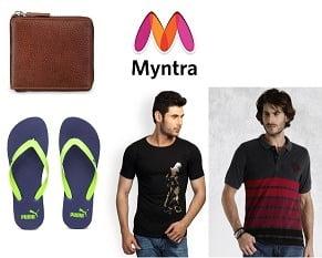 Myntra: T-Shirts, Ties, Sunglasses, Flip Flops, Socks below Rs.499