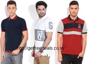 Men's Branded Polo T-Shirts – Flat 50% – 80% Off + 10% Extra off with SBI Cards – Flipkart