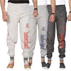 Swaggy Silver,Grey Running Track Pants For Mens (Pack Of 3 ) for Rs.399 @ Shopclues
