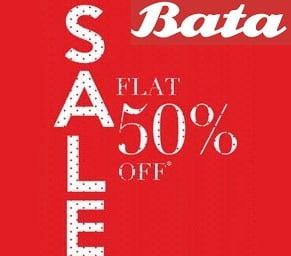 Bata Clearance Sale – Flat 50% Off on Men's / Women's Footwear