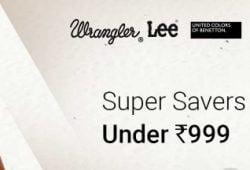 Super Saver Deal on Men's Clothing under Rs.999 @ Flipkart