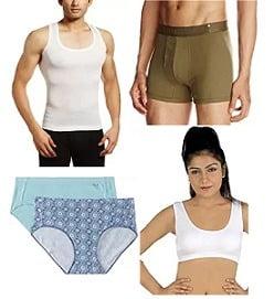 Innerwear for Men's & Women's – Minimum 50% Off starts Rs. 70 @ Amazon