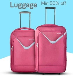 American Tourister, VIP, Safari, Skybags Travel Luggage : Minimum 50% Off + Extra 10% Off