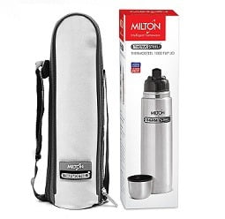 Milton Thermosteel Flip Lid Flask, 1000ml, Silver worth Rs.880 for Rs.685 @ Amazon (Limited Period Deal)