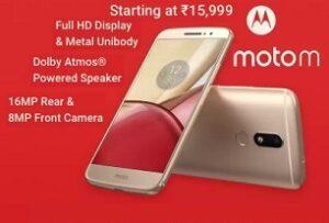 Moto M – Flat Rs.2000 Off starts Rs. 13,999 @ Flipkart