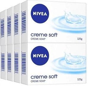 Nivea Creme Soft creme Soap, 125gm (Pack of 8)
