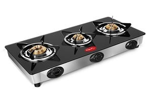 Great Deal: Pigeon Favorite 3-Burner Glass Cooktop worth Rs.3995 for Rs.1691 @ Pepperfry