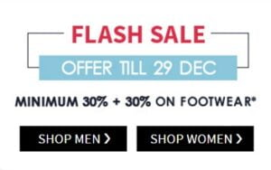 Men's Footwear (AJIO, ARROW, CROCS, PUMA, USPA, FAMOZI) – Min 30% + Extra 30% Off @ AJIO