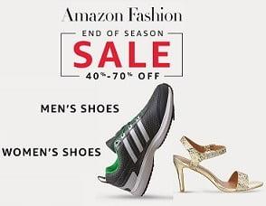 Amazon End of Season Sale on Men's / Women's Footwear – Flat 40% – 70% Off