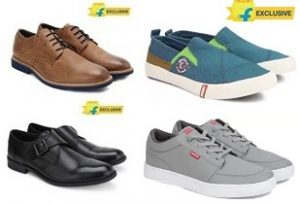 Levi's, Lee Cooper, Red Tape, Woodland & Ruosh Men's Formal / Casual Shoes – Min 50% Off@ Flipkart