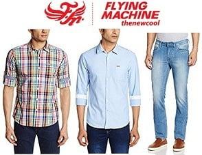Flying Machine Men's Clothing – Min 50% + Buy 2 Get Extra 30% Off @ Amazon
