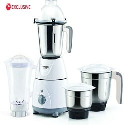 Eveready NOVUS 750 Watt 4 Jar Mixer Grinder for Rs.1899 @ Snapdeal (5 Yrs Warranty on Motor)