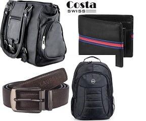 Bags, Wallet, Clutches, Belts, Backpacks – Minimum 70% Off @ Flipkart