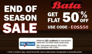 Bata Online Exclusive Range – Flat 50% Off