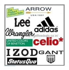 Minimum 60% off on Lee, Wrangler, Arrow, Puma, UCB, Celio, IZOD & more + Extra 10% Discount with HDFC Credit Card