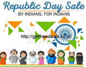 Flipkart The Republic Day Sale & Cashback Offer (24th Jan – 26th Jan)
