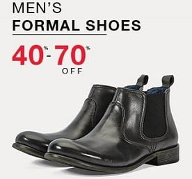 Men's Top Brand Formal Shoes – Flat 70% – 80% Off @ Amazon