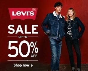 Levi's Men's & Women's Clothing – Min 40% Off Upto 50% Off @ Amazon