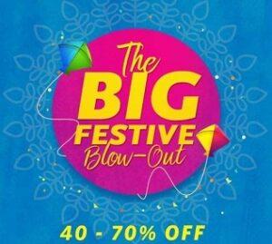 Myntra Festive Sale: Flat 40% – 70% Off + Extra upto 100% Mobikwik Cashback