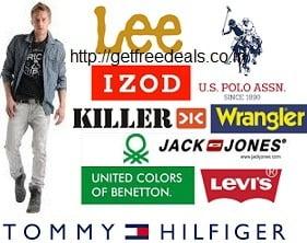 Below Rs.1000 – Lee, UCB, IZOD, Wrangler, U.S.Polo, Killer, Jack & Jones, Tommy Hilfiger, Levis & more Men's Clothing +20% Extra Cashback  @ Flipkart