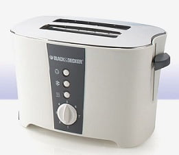 Black & Decker ET122 2 Slice Pop-Up Toaster (White) worth Rs.2595 for Rs.294 @ Tatacliq