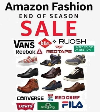 9be6b113f06 Amazon End of Season Sale on Top Brand Men s Shoes – Flat 40% to 70% Off
