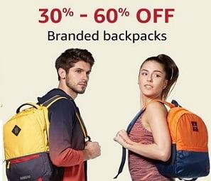 Top Brand Backpacks – Flat 30% – 60% Off @ Amazon