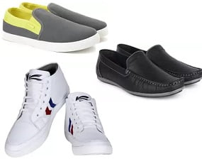 Men's Casual Shoes / Sandals / Slippers – under Rs.999 @ Flipkart