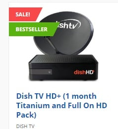 Dish TV New Connection: Get Flat Rs.700 Off + FREE 1 month Titanium Pack (HD) – All just for Rs.1100 only