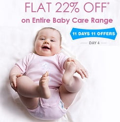 Flat 22% OFF on entire Baby Care range @ Firstcry
