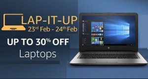 Laptop Sale – Upto 30% Off starts from Rs.9990 @ Amazon (Valid till 24th Feb)