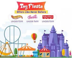 Toy Fiesta – Hotwheels, Barbie, Fisher Price, Funskool under Rs.199, 299, 499, 599 @ Firstcry