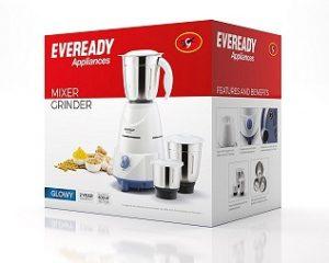 Eveready Glowy 500-Watt Mixer Grinder for Rs.1299 – Amazon (Limited Period Offer) 2 Yrs Warranty