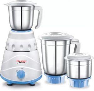 Prestige Atlas 550 W Mixer Grinder  (white and Blue, 3 Jars) for Rs.1549 @ Flipkart