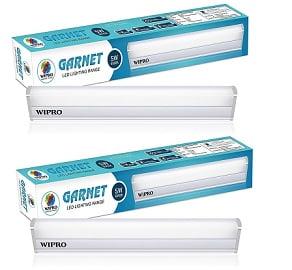 Wipro Garnet 5-Watt LED Batten (Pack of 2, Warm White and Golden Yellow) for Rs.484 – Amazon