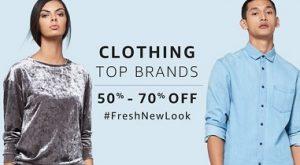 Top Brands Men / Women Clothing Flat 50% – 70% Off