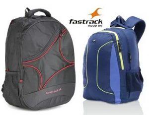 Fastrack Backpacks: Upto 50% Off + Buy 2 Get 10% off, Buy 3 Get 15% off @ Flipkart