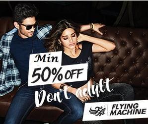 Flying Machine Men's Clothing – Flat 50% to 70% Off @ Amazon