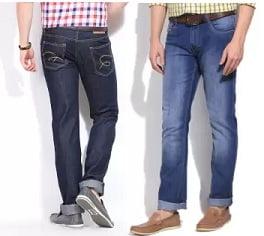 Men's Jeans (John Player, Pepe, IZod, Numero Uno, Newport) – under Rs.749 @ Flipkart