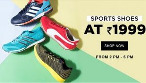 Top Brand Sports Shoes (Men / Women) for Rs.1999 Only – Jabong (Valid till 6 PM Today)
