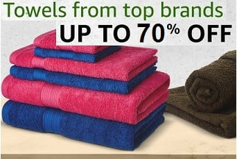 Top Brand Towels – Upto 70% Off @ Amazon