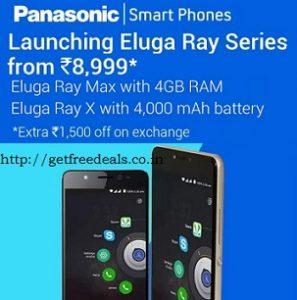 Panasonic Eluga Ray (3 GB & 4GB RAM) starts Rs.6999 – Flipkart