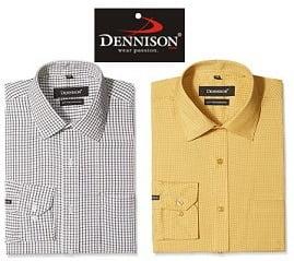 Dennison Mens Casual & Formal Shirts - Min 70% Off