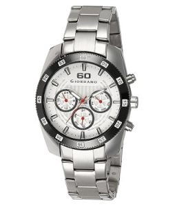 Giordano Analog White Dial Men's Watch – 6101-11 worth Rs. 9,250 for Rs. 2,775 + 20% Cashback – Amazon