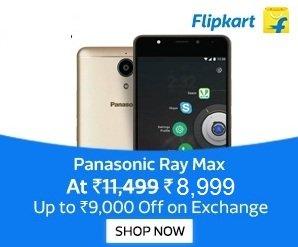 Panasonic Eluga Ray Max (4 GB RAM, 32 GB ROM) for Rs.8,999 – Flipkart