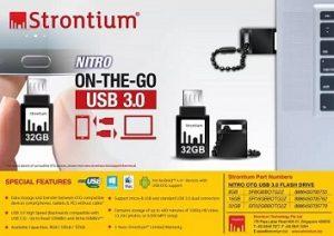 Strontium 16GB NITRO ON-THE-GO (OTG) USB 3.0 FLASH DRIVE for Rs.499 – Flipkart