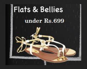 Women's Flats & Bellies below Rs.699 + 20% Cashback – Flipkart