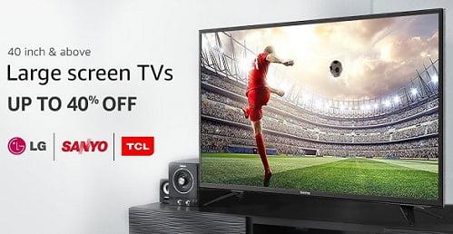 Pre-GST Sale: Large Screen TV (40 inch & above) – Upto 47% off – Amazon